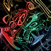 Colorful music background — Стоковое фото