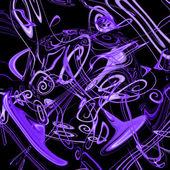 Fialový hudební pozadí — Stock fotografie