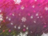 Winter snowfall — Stock Photo