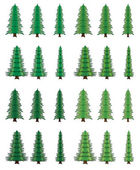 Vector tree set — Stock Vector