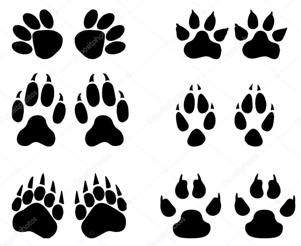 Printable paw print patterns free vector download 19778