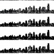 City skyline vector set — Stockvektor #40230331