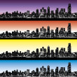 Stok Vektör: City skyline vector set