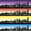 Stockvector : City skyline vector set