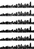 City skyline vector set — 图库矢量图片