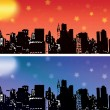 Stock vektor: City skyline vector set