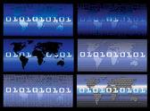 Vector Digital world — Stock Vector