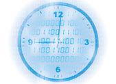 Digital clock background — Stock Vector