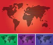 World map vector set — Stock Vector