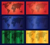 世界地図ベクトルを設定 — ストックベクタ