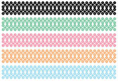 Vintage stripe vector set — Stock Vector