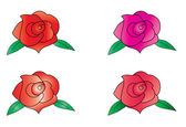 RED ROSE VECTOR — Stock Vector