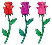 Vector rosa roja — Vector de stock