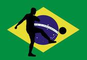 Brasil soccer player — Vetorial Stock