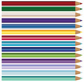 Jeu de crayon — Vecteur
