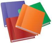 Vector book set — Vetor de Stock