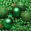 Five green christmas balls — Stock Photo #16621871