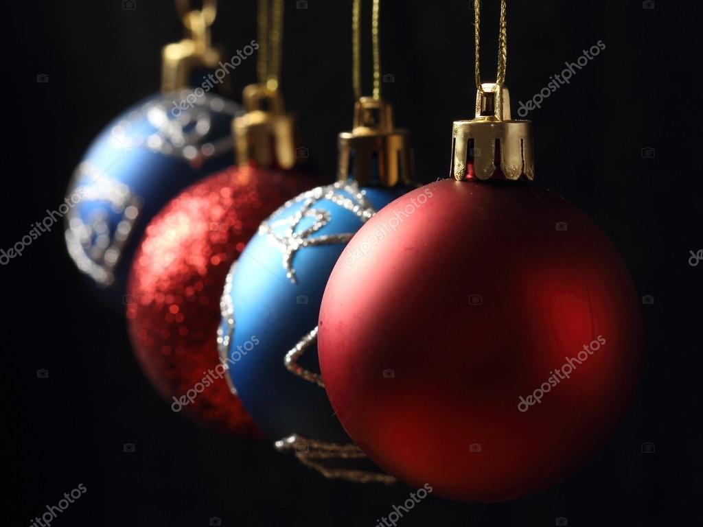 christmas balls on black background — Stock Photo #16621877