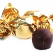 Chocolate candy in golden wrapper — Stock Photo #33357009