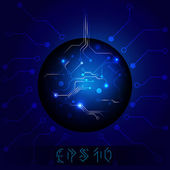 Blue ball — Stock Vector