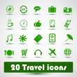 20 travel icons — Stock Vector