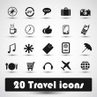 Stock Vector: 20 travel icon
