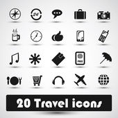 20 travel icon — Stock Vector