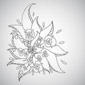 Skech flower — Stock Vector