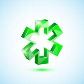 Ikona zelené lékařské kříž — Stock vektor