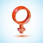 Red mirror of Venus/ Icon/ Vector illustration — Stock Vector