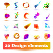 Set design elements. Use for web or business — Stock Vector