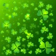 Green vector Saint Patrick's Day greeting card — Vettoriali Stock