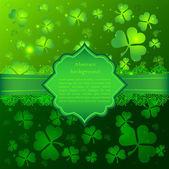 Green vector Saint Patrick's Day greeting card — Stock Vector