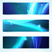 Shiny blue banners — Stock Vector