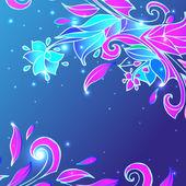 Blue flower background — Stock Vector