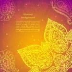 Golden ethnic indian background. — Stock Vector #27602115