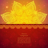 Golden ethnic indian background. — Stock Vector
