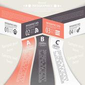 Modern design infographic template. — Stock Vector