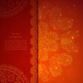 Red indian ornament — Stockvector