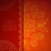 Red indian ornament — 图库矢量图片