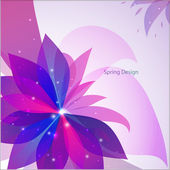 Vector abstract flower background — Stock Vector