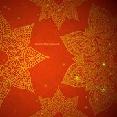 Ornement rouge indien — Vecteur