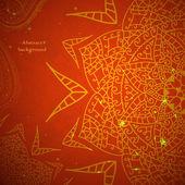 Red indische vintage sieraad. vectorillustratie voor uw bedrijfspresentatie — Stockvector