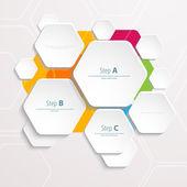 Polígonos de fundo corte modelo de papel-design. ilustração vetorial para a sua apresentação de negócios — Vetor de Stock