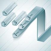 Modern iş steb origami stil seçenekleri afiş. — Stok Vektör