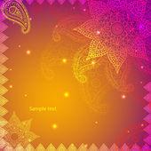 Gold Indian Vintage Ornament. Vector illustration for your business presentation — Stock Vector