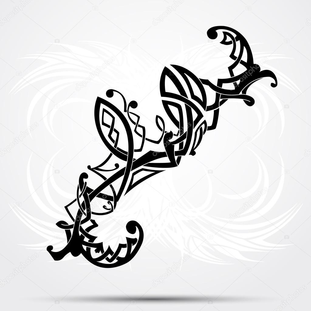 maori stil tattoo muster passt f r eine schulter oder. Black Bedroom Furniture Sets. Home Design Ideas