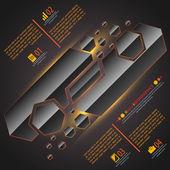 Web información gráfica tamplate. ilustración vectorial para su presentación del negocio — Vector de stock