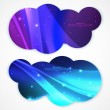 Set of abstract vector banners. Vector illustration for your business presentation — Stock Vector #34897533