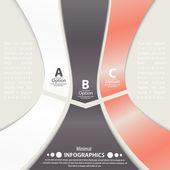 Modelo de infográfico de design moderno. bandeiras numeradas. — Vetorial Stock